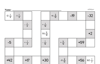 Subtraction Mixed Math PDF Workbook for Fifth Graders