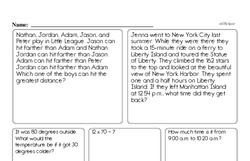 Free Fifth Grade Subtraction PDF Worksheets Worksheet #4