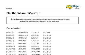 Halloween Graph the Picture Workbook (book 2)