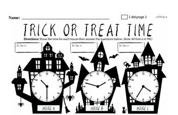 Halloween Math Challenge Workbook