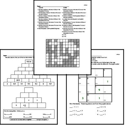 Math Puzzle Workbooks