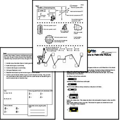 Fifth Grade Valentine's Day Math Challenge Workbook