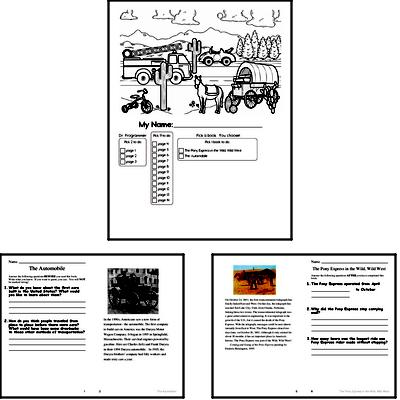 Fifth Grade Winter Activity Book for Start of December