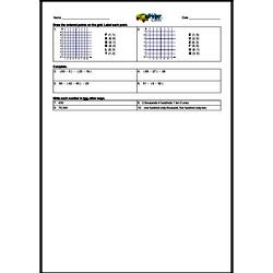 2nd Quarter Math Assessment for Sixth Grade - Few Mixed Review Math Problem Pages