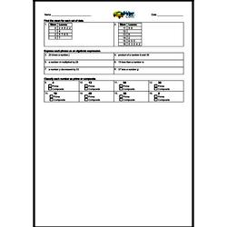 4th Quarter Math Assessment for Sixth Grade - Few Mixed Review Math Problem Pages