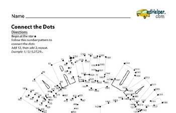 Challenging Dot to Dots with Number Patterns for Earth Day: Solutions