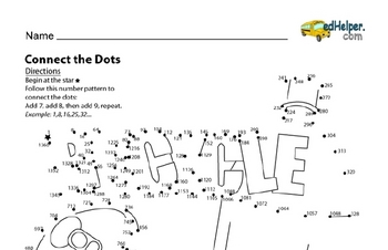 Challenging Dot to Dots with Number Patterns for Earth Day