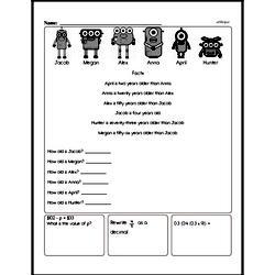 Sixth Grade Data Worksheets   Collecting and Organizing ...