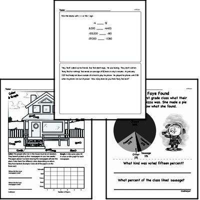 Data - Data Word Problems Workbook (all teacher worksheets - large PDF)