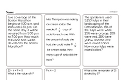 Sixth Grade Data Worksheets - Data Word Problems Worksheet #3