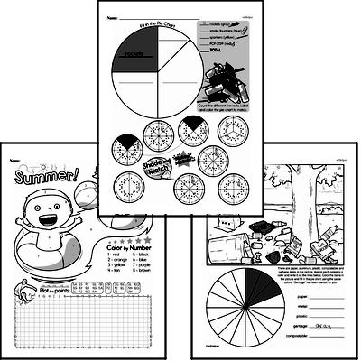 Data - Graphing Mixed Math PDF Workbook for Sixth Graders