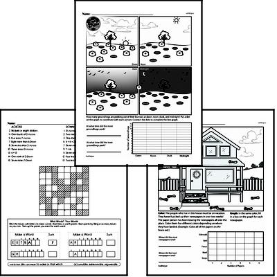 Data Mixed Math PDF Workbook for Sixth Graders