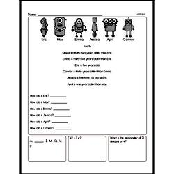 Free Sixth Grade Data PDF Worksheets Worksheet #1