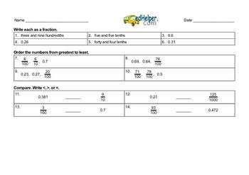 Decimals Mixed Math PDF Book