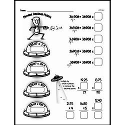 Sixth Grade Decimals Worksheets Worksheet #1