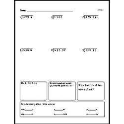 Division Worksheets - Free Printable Math PDFs Worksheet #21