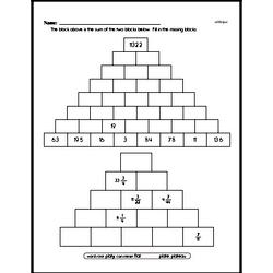 Pyramid Puzzle Problem Worksheet (Easier)
