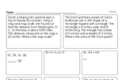 Free Sixth Grade Fractions PDF Worksheets Worksheet #3