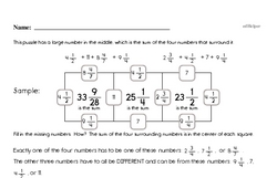 Adding and Subtracting Fractions Enrichment Challenge Math Puzzle