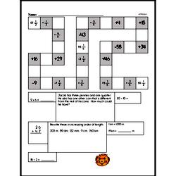 Addition and Subtraction Fraction Puzzle
