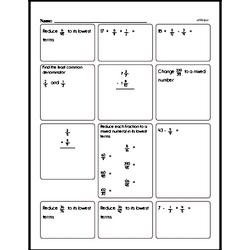 Fraction Mad Minute Pages [easier]