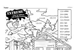 Free Sixth Grade Fractions PDF Worksheets Worksheet #19