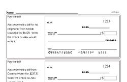 Free Fraction PDF Math Worksheets Worksheet #18