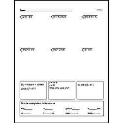 Free Fraction PDF Math Worksheets Worksheet #219