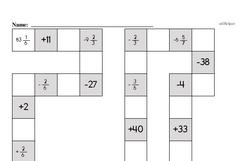 Free Fraction PDF Math Worksheets Worksheet #97