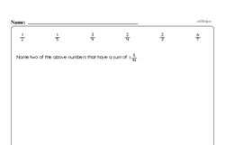 Free Fraction PDF Math Worksheets Worksheet #150