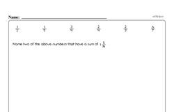 Fraction Worksheets - Free Printable Math PDFs Worksheet #40