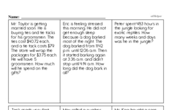Free Fraction PDF Math Worksheets Worksheet #153