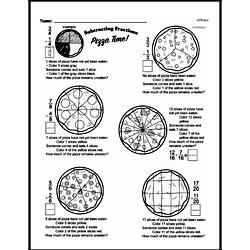 Free Fraction PDF Math Worksheets Worksheet #182