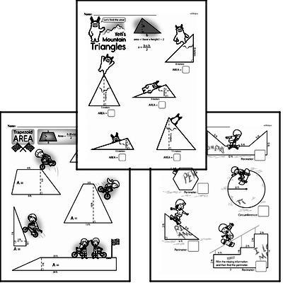 free sixth grade geometry pdf worksheets