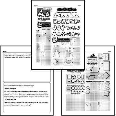 sixth grade geometry worksheets scaling shapes. Black Bedroom Furniture Sets. Home Design Ideas