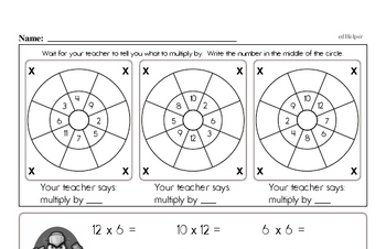 Multiplication and Division Mad Minute Timed Addition Math Drill Pages for Sixth Graders