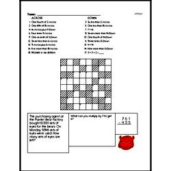 Free Sixth Grade Math Challenges PDF Worksheets Worksheet #6