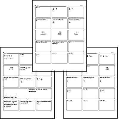 Math Fact Worksheets - Free Printable Math PDFs EdHelper.com