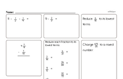 Fractions Math Minutes