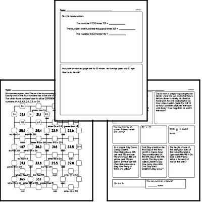 Math Morning Work Workbook
