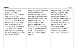 Sixth Grade Math Word Problems Worksheets - Mixed ...