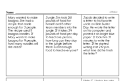 Sixth Grade Measurement Worksheets Worksheet #8
