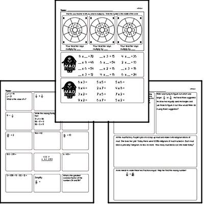 Multiplication Facts Mad Minute Worksheets