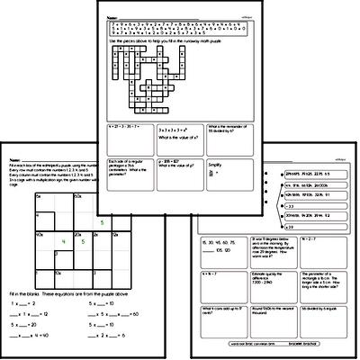 Multiplication Mixed Math PDF Workbook for Sixth Graders