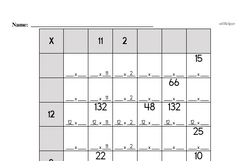 Sixth Grade Multiplication Worksheets Worksheet #2
