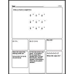 Sixth Grade Multiplication Worksheets Worksheet #3