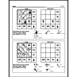 Sixth Grade Multiplication Worksheets Worksheet #13