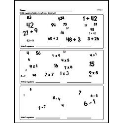 Sixth Grade Multiplication Worksheets Worksheet #5