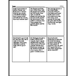 Sixth Grade Multiplication Worksheets Worksheet #19