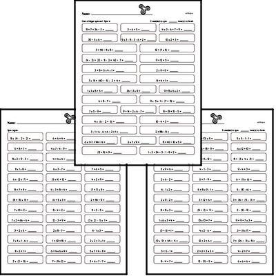 Order of operations practice workbook